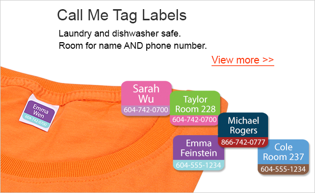 Contact Labels - Clothing Labels