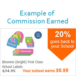 Fundraise for school with a successful label fundraiser
