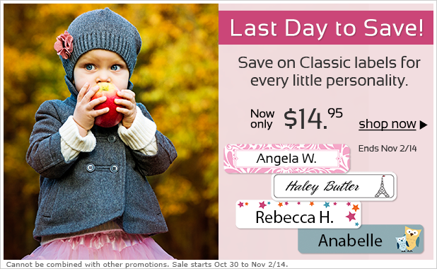 Save on Classic Kids Labels