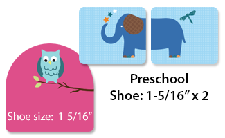 Shoe labels for school and preschoolers