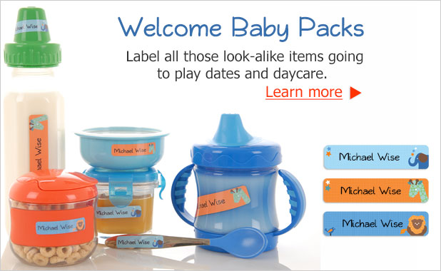 Baby Labels for baby bottles & more