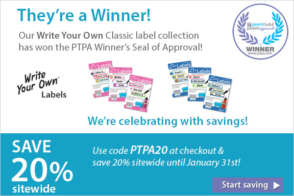 Save 20% sitewide! We're a PTPA Winner!