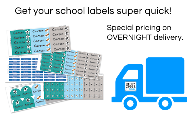 Free Shipping School labels