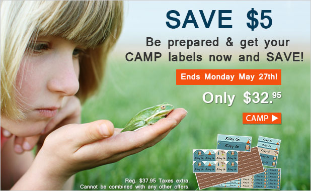 Save on labels for camp!