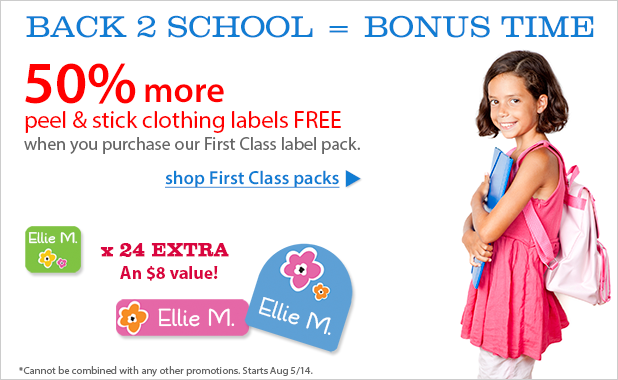 Back to School Labels Sale
