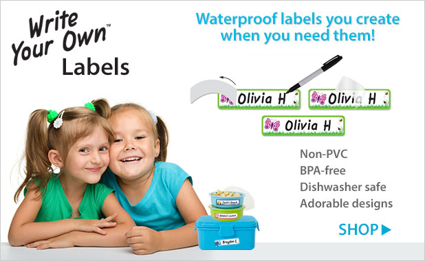 Write Your Own self-laminating waterproof labels